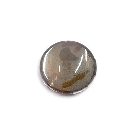Cabochon rond en verre 20X5.6mm Vert Bronze (x1)