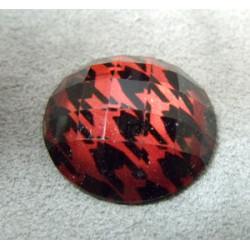 Cabochon en Résine Disco Approx 25mm Rouge (X1)