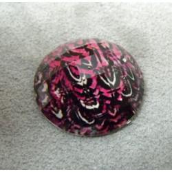 Cabochon en Résine Zebre Approx 24mm Rose (X1)