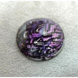 Cabochon en Résine Zebre Approx 24mm Violet (X1)