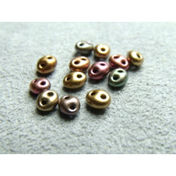 Twin Beads 2,5X5mm Doré Irisé(x sachet de 25gr env.)
