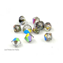 Toupies 4mm Crystal Vitrail Médium - réf. 5301 (x20)