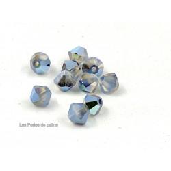 Toupies 4mm White Opal Star Shine - réf. 5301 (x20)