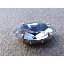 Navette sertie 15X7 Light Sapphire (X1)