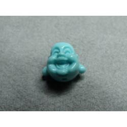 Tête Boudha Bleu Ciel 12mm (x1)