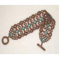 """Schéma du Bracelet """"Toccata"""" de La Bijoutisse"""