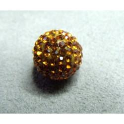 Perle strass pour Shamballa Topaz Résine 12mm (X1)