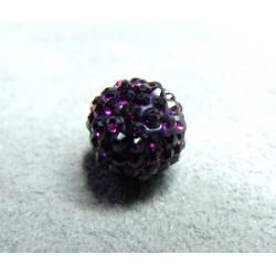 Perle strass pour Shamballa Amethyst Résine 10mm (X1)