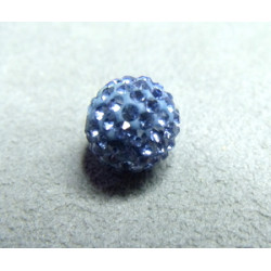 Perle strass pour Shamballa Light Saphyrre Résine 10mm (X1)