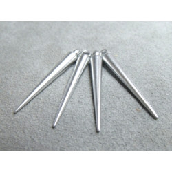 Spikes 35X5mm Argent (X20)