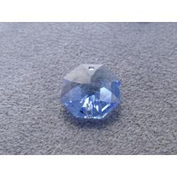 Octogone 14mm 2 trous Saphir Blue (X1)