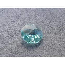 Octogone 14mm 2 trous Light Blue zircon (X1)