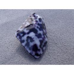 Goutte Diforme Tachetée Bleu 40mm (x1)